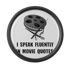 Speak Movie Quotes Large Wall Clock