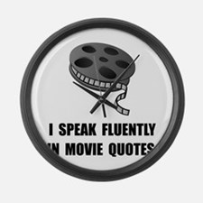 Speak Movie Quotes Large Wall Clock