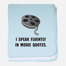 Speak Movie Quotes baby blanket