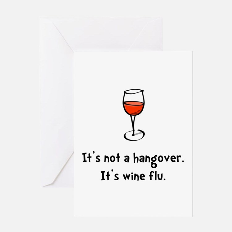 Wine Flu Greeting Card