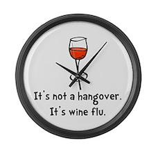 Wine Flu Large Wall Clock