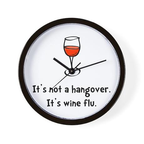 Wine Flu Wall Clock