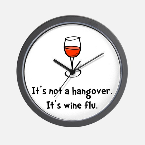 Wine Flu Wall Clock
