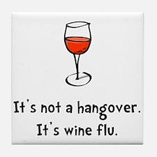 Wine Flu Tile Coaster