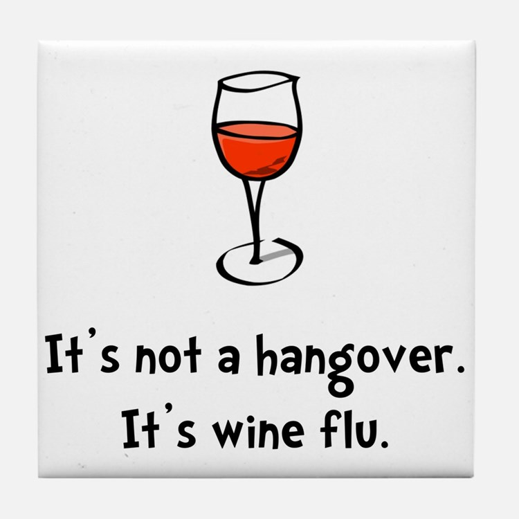 Wine Flu Tile Coaster