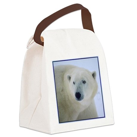 PolarBearcurtain.png Canvas Lunch Bag