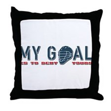 My Goal, Lacrosse Goalie Throw Pillow