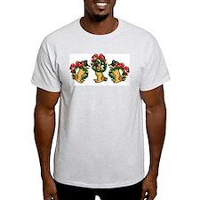 Pugs in Wreaths Ash Grey T-Shirt