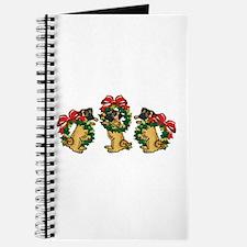 Pugs in Wreaths Journal