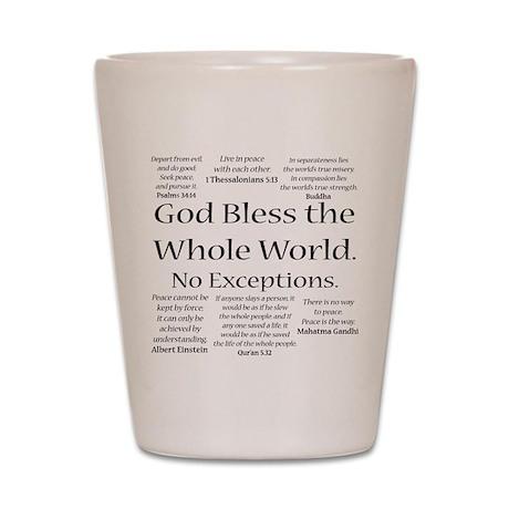 God Bless Shot Glass