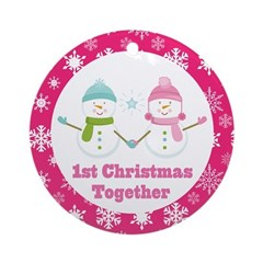 1st Christmas Together Snowflake Gift Ornament (Ro