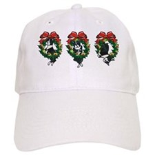 Bostons in Wreaths Baseball Cap