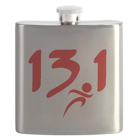 Red 13.1 half-marathon Flask