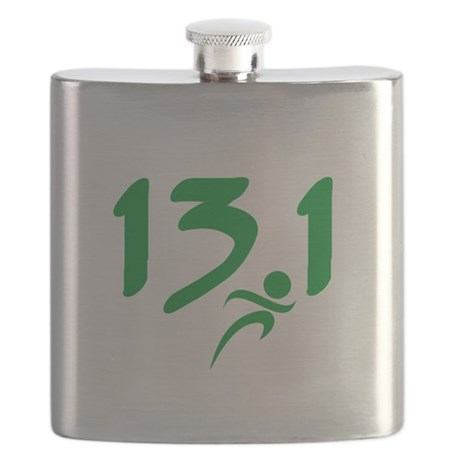 Green 13.1 half-marathon Flask