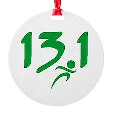 Green 13.1 half-marathon Ornament