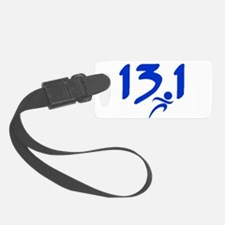Blue 13.1 half-marathon Luggage Tag
