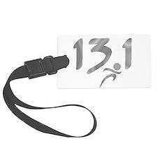 Silver 13.1 half-marathon Luggage Tag