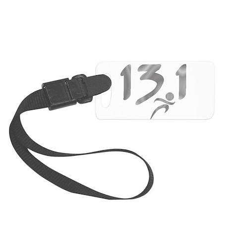 Silver 13.1 half-marathon Small Luggage Tag