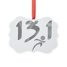 Silver 13.1 half-marathon Ornament