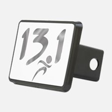 Silver 13.1 half-marathon Hitch Cover
