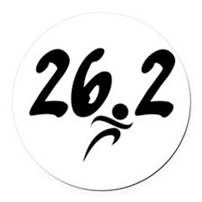 26.2 marathon Round Car Magnet