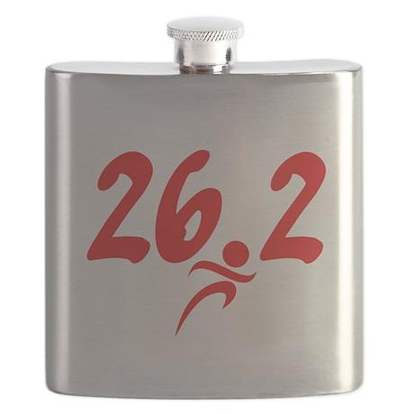 Red 26.2 marathon Flask