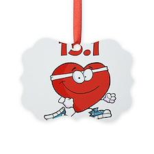 Half-marathon heart Ornament