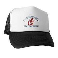 Cape Elizabeth ME - Lobster Design. Trucker Hat