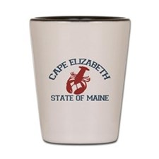 Cape Elizabeth ME - Lobster Design. Shot Glass