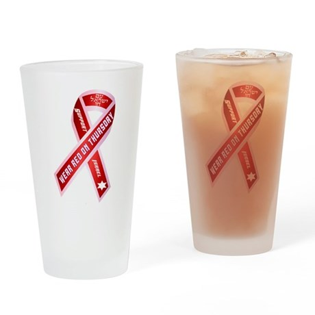 Wear Red For Israel Drinking Glass