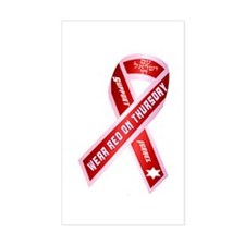 Wear Red For Israel Decal