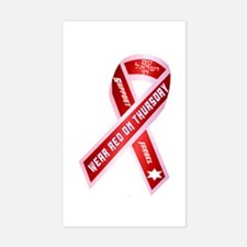 Wear Red For Israel Sticker (Rectangle)