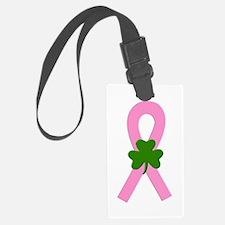 Pink shamrock ribbon Luggage Tag