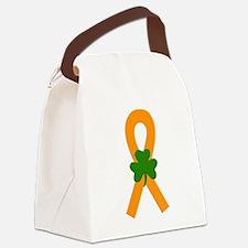 Orange Shamrock Ribbon Canvas Lunch Bag