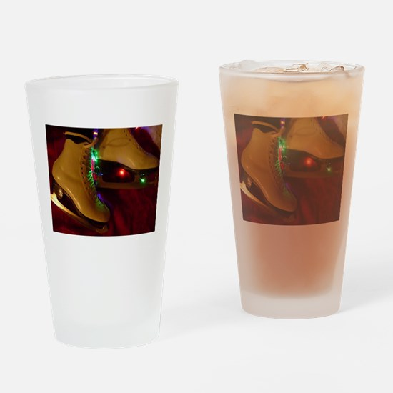 Ice Skater Christmas Drinking Glass