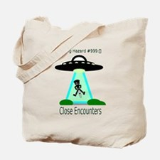 Cycling Hazards - Close encounters Tote Bag