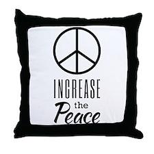 Increase the Peace Throw Pillow