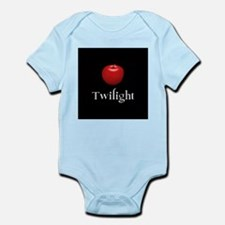 Twilight Lettering with Red Apple Infant Bodysuit