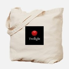 Twilight Lettering with Red Apple Tote Bag