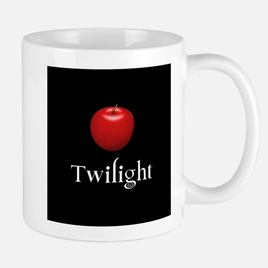 Twilight Lettering with Red Apple Mug