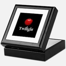 Twilight Lettering with Red Apple Keepsake Box