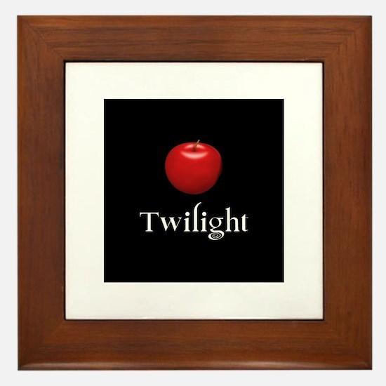 Twilight Lettering with Red Apple Framed Tile