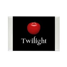 Twilight Lettering with Red Apple Rectangle Magnet