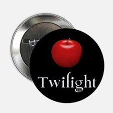 """Twilight Lettering with Red Apple 2.25"""" Button"""