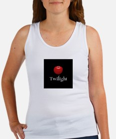 Twilight Lettering with Red Apple Women's Tank Top