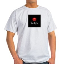 Twilight Lettering with Red Apple T-Shirt