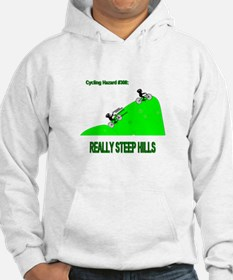 Cycling Hazards - Really Steep Hills Hoodie