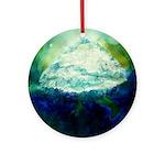Snowy Mountain Ornament (Round)