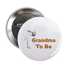 "Stork Grandma To Be 2.25"" Button"