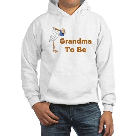 Stork Grandma To Be Hooded Sweatshirt
